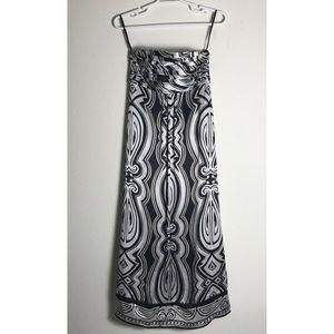 White House Black Market Maxi silk dress 4